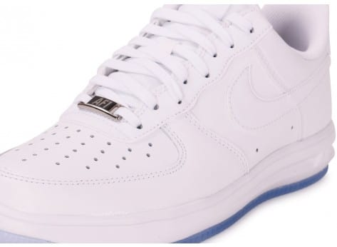 Chaussures Nike Lunar Force 1 '14 blanche vue dessus