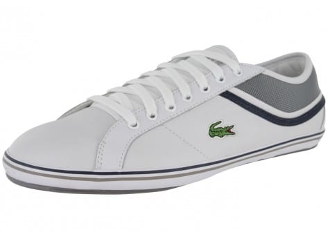 lacoste cairon cuir blanche chaussures homme chausport. Black Bedroom Furniture Sets. Home Design Ideas