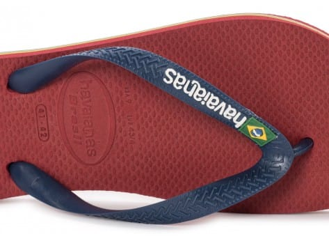 Chaussures Havaianas Tongs Brasil Logo rouge vue dessus