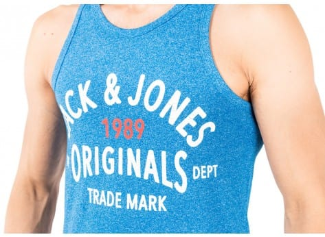 Tee-shirt Jack & Jones Debardeur Athletic Top Tank bleu