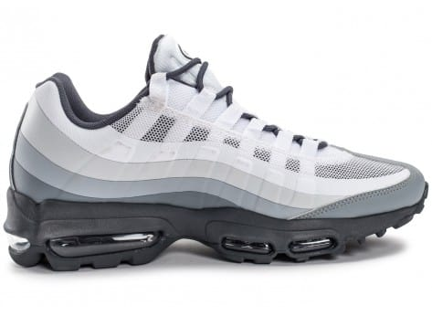 Chaussures Nike Air Max 95 Ultra Essential blanche et grise vue intérieure