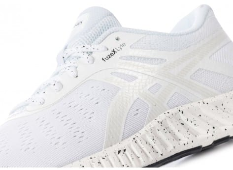 Chaussures Asics FuzeX Lyte white noise blanche vue dessus