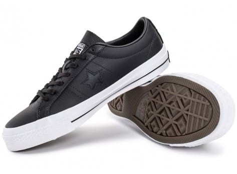 Chaussures Converse One Star Leather noire vue intérieure