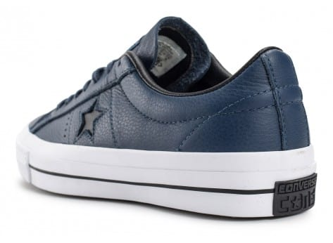 Chaussures Converse One Star Leather bleu marine vue arrière