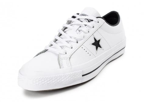 Chaussures Converse One Star Leather Blanche vue arrière