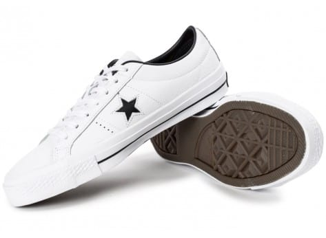 Chaussures Converse One Star Leather Blanche vue avant