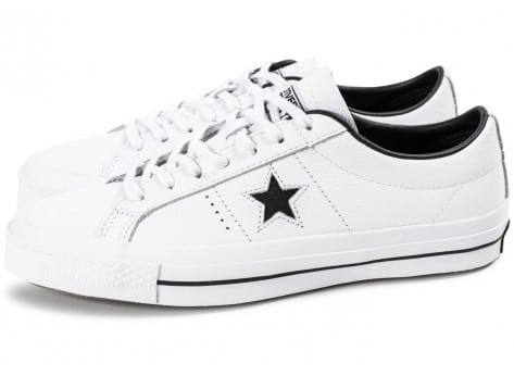 Chaussures Converse One Star Leather Blanche vue extérieure
