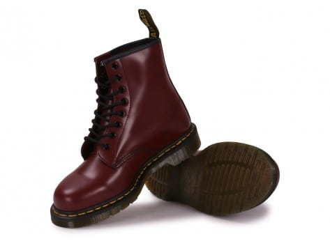 Chaussures Dr Martens 1460 cherry red vue intérieure