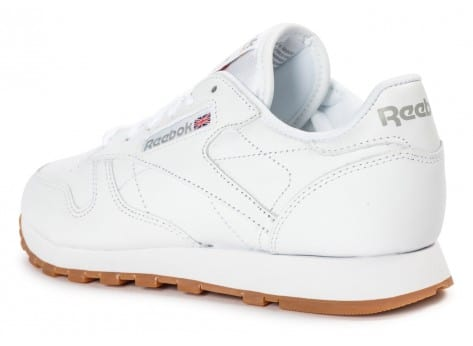 Chaussures Reebok Classic Leather W Gum blanche vue arrière