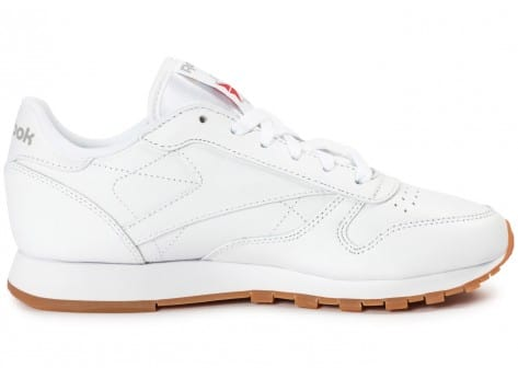 Chaussures Reebok Classic Leather W Gum blanche vue dessous