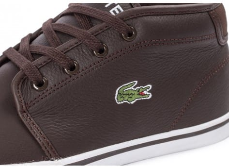 Chaussures Lacoste Ampthill Leather marron vue dessus