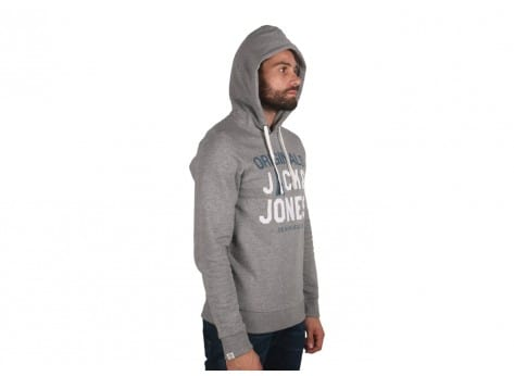 Sweat Jack & Jones Sweat à Capuche Massoum gris
