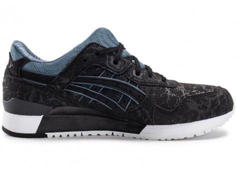 Chaussures Asics Gel Lyte III Galaxy Pack noire vue dessous