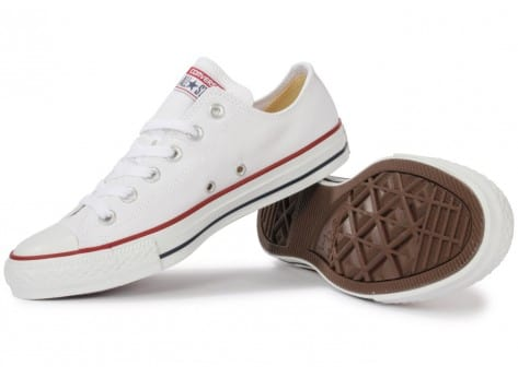 Chaussures Converse Chuck Taylor All Star low blanche vue intérieure
