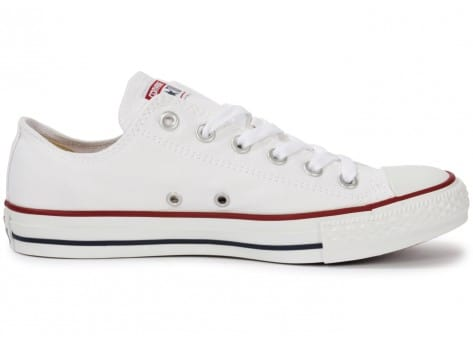 Chaussures Converse Chuck Taylor All Star low blanche vue dessous