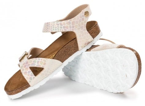 Chaussures Birkenstock Rio Shiny Snake cream vue intérieure