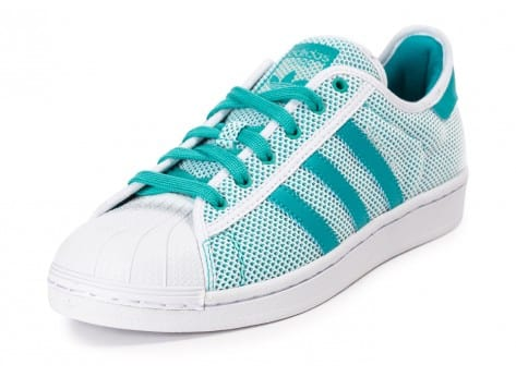 Chaussures adidas Superstar Summer Shock Green vue avant