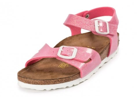 Chaussures Birkenstock Rio Junior Magic Galaxy rose vue avant