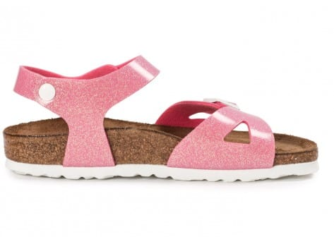 Chaussures Birkenstock Rio Junior Magic Galaxy rose vue dessous