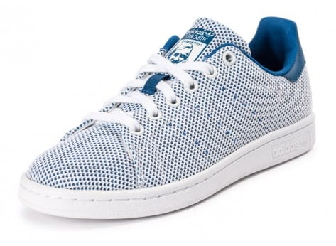 Chaussures adidas Stan Smith Adicolor Summer bleue vue avant