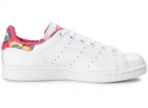 Chaussures adidas Stan Smith Floral blanche vue intérieure