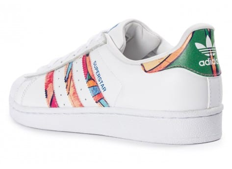 Chaussures adidas Superstar Tropical blanche  vue arrière