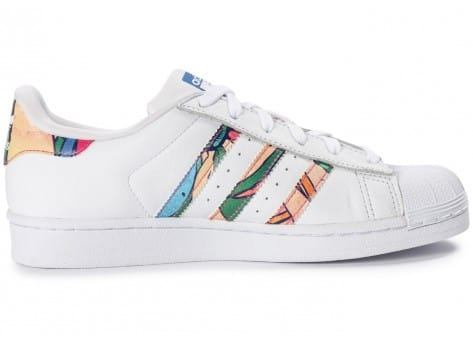 Chaussures adidas Superstar Tropical blanche  vue dessous