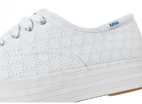 Chaussures Keds Champion Eyelet Compensée Blanche vue dessus