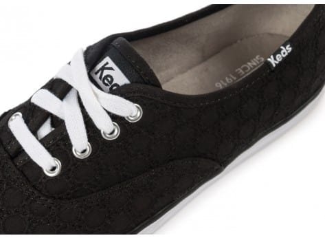Chaussures Keds Champion Eyelet Noire vue dessus