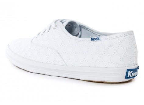 Chaussures Keds Champion Eyelet Blanche vue arrière