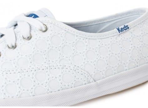 Chaussures Keds Champion Eyelet Blanche vue dessus