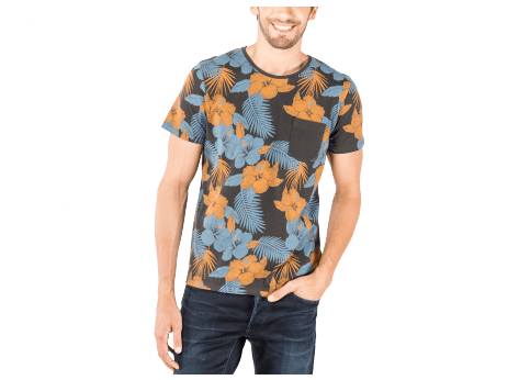 Tee-shirt Jack & Jones T-Shirt Grow Flower anthracite