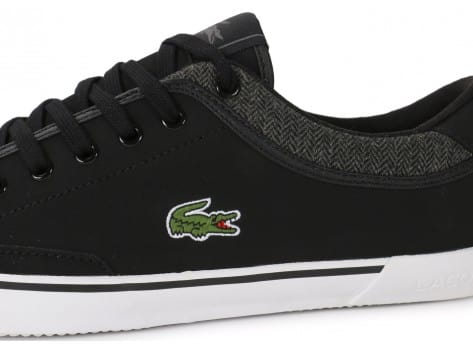 Chaussures Lacoste Angha Leather noire vue dessus
