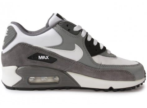 promo code 948ee 0922c 6569 chaussures nike air max 90 blanche grise vue interieure