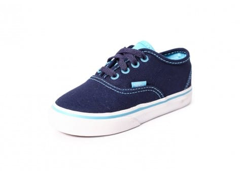Chaussures Vans Authentic River Blue bébé vue avant