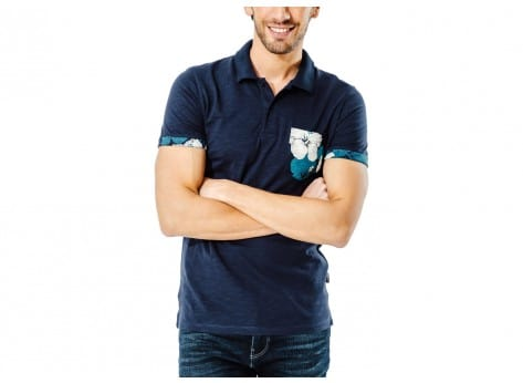 Polo Jack & Jones Polo Tropical bleu marine