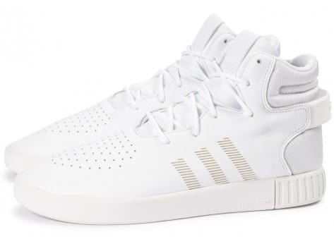 Chaussures adidas Tubular Invader blanche vue extérieure