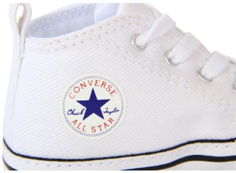 Chaussures Converse CHUCK TAYLOR ALL-STAR FIRST BLANC vue dessus