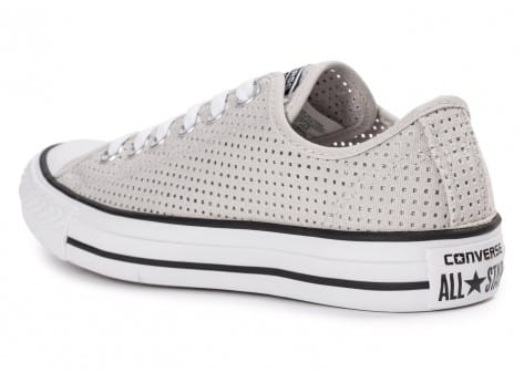 Chaussures Converse Chuck Taylor All-Star Perf OX grise vue arrière