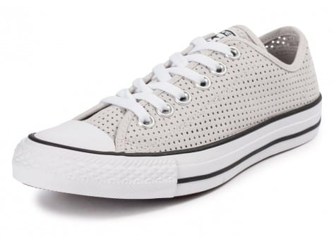 Chaussures Converse Chuck Taylor All-Star Perf OX grise vue avant