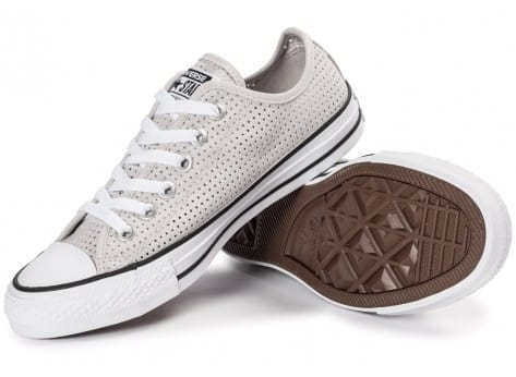 Chaussures Converse Chuck Taylor All-Star Perf OX grise vue intérieure