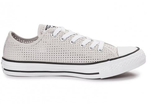 Chaussures Converse Chuck Taylor All-Star Perf OX grise vue dessous