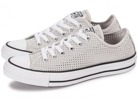 Chaussures Converse Chuck Taylor All-Star Perf OX grise vue extérieure