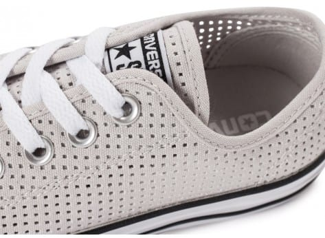 Chaussures Converse Chuck Taylor All-Star Perf OX grise vue dessus