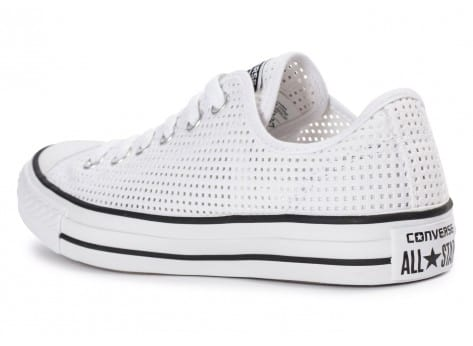 Chaussures Converse Chuck Taylor All-Star Perf OX blanche vue arrière