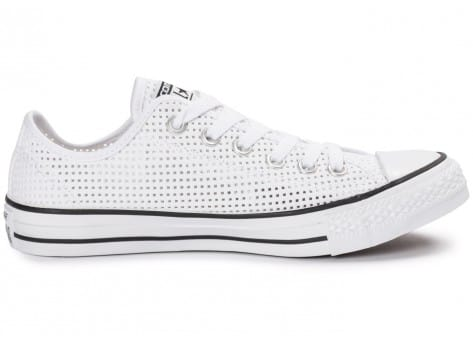 Chaussures Converse Chuck Taylor All-Star Perf OX blanche vue dessous