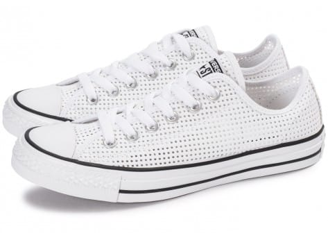Chaussures Converse Chuck Taylor All-Star Perf OX blanche vue extérieure