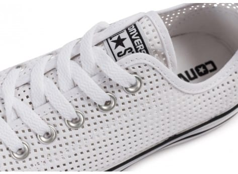 Chaussures Converse Chuck Taylor All-Star Perf OX blanche vue dessus