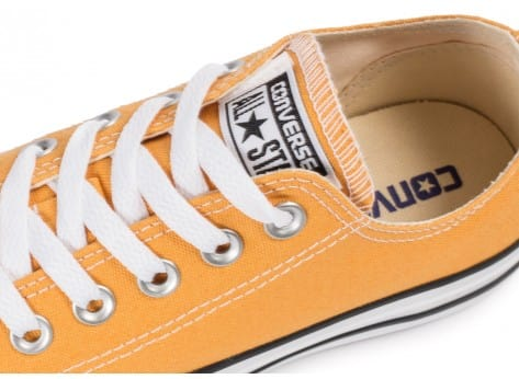 Chaussures Converse Chuck Taylor All-Star Canvas OX Solar orange vue dessus