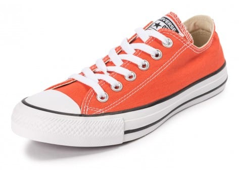 Chaussures Converse Chuck Taylor All-Star Canvas OX orange vue avant